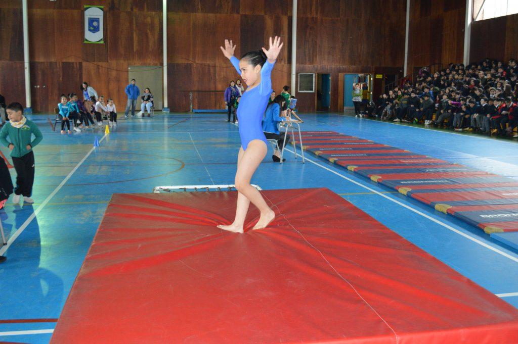 Escuela Litoral Austral realiza primer torneo de gimnasia artística en la comuna