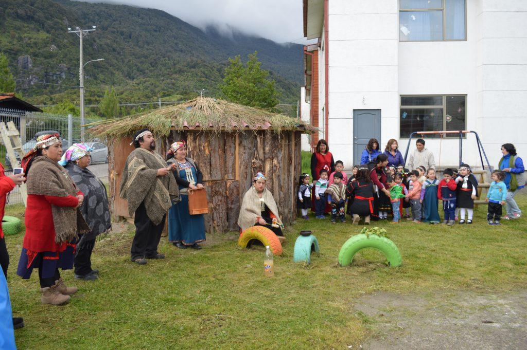 Se inaugura ruka mapuche-huilliche en jardín infantil de Puerto Chacabuco