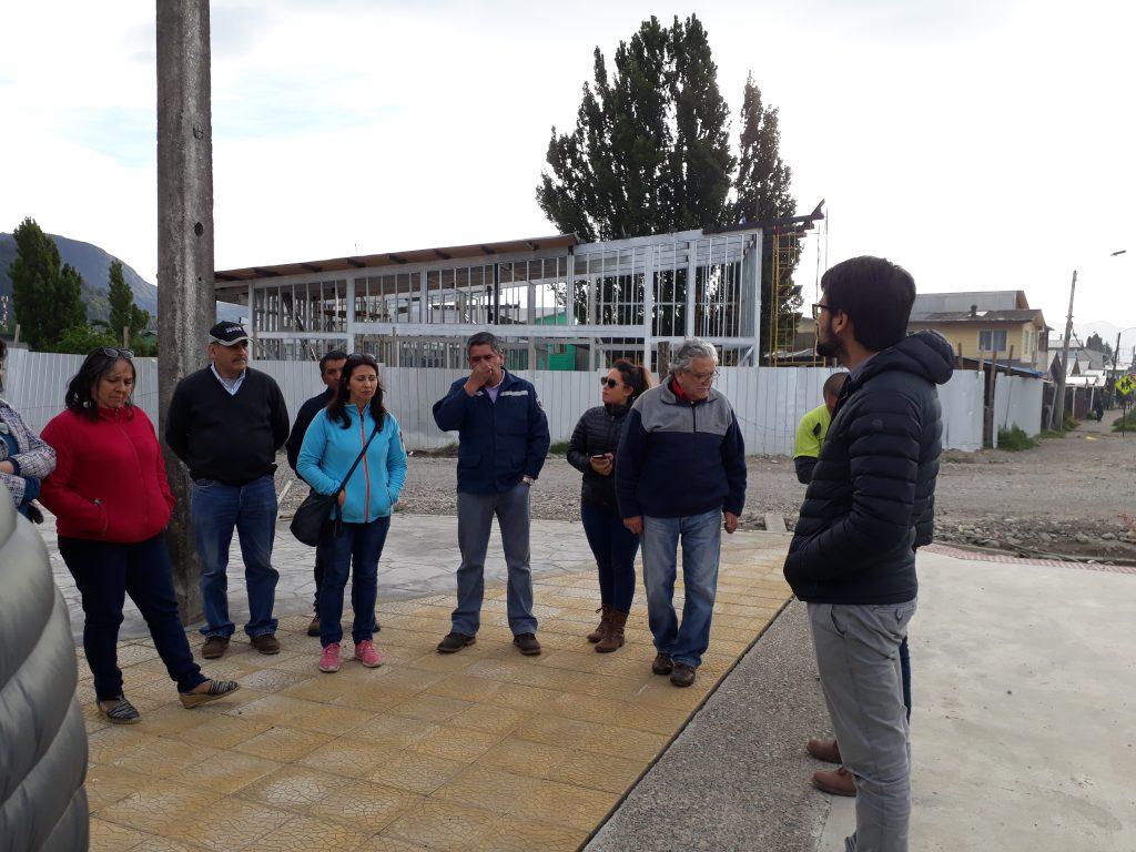 Vecinos de barrio Ribera Sur Oriente visitan obras que se ejecutan en su sector