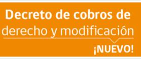 img banner decreto de cobro derechos modificaciones 20171108