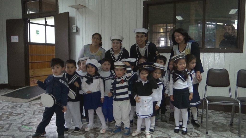 Jardín Aysén Chiquito celebró Mes del Mar junto a Armada de Chile