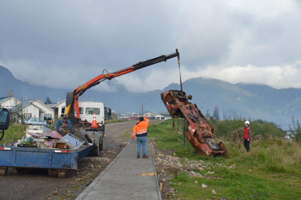 Municipalidad de Aysén realiza operativo de erradicación de microbasurales