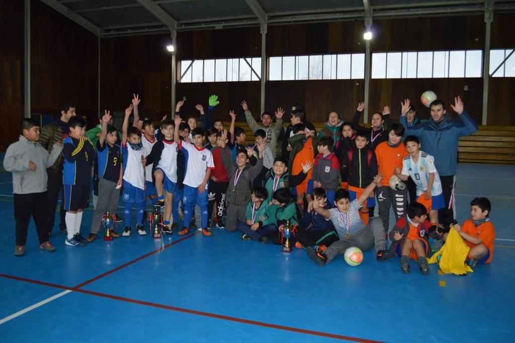 Escuela Litoral Austral se quedó con el Campeonato de Futsal de Escuelas Municipales