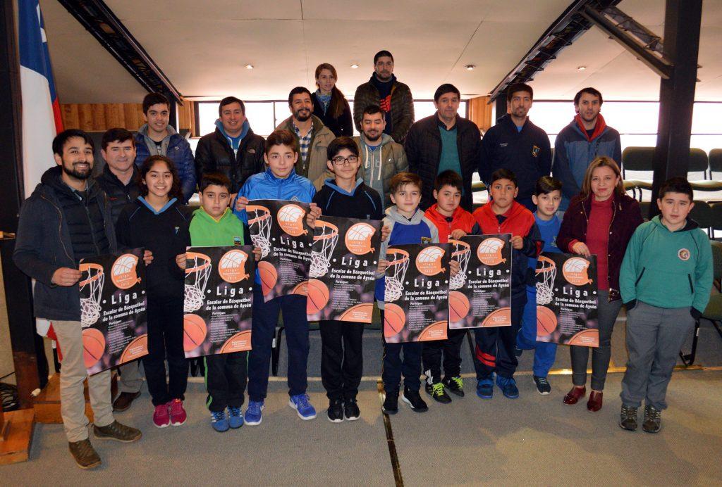 Dirección de Educación Municipal lanza Liga Escolar de Básquetbol de la comuna de Aysén