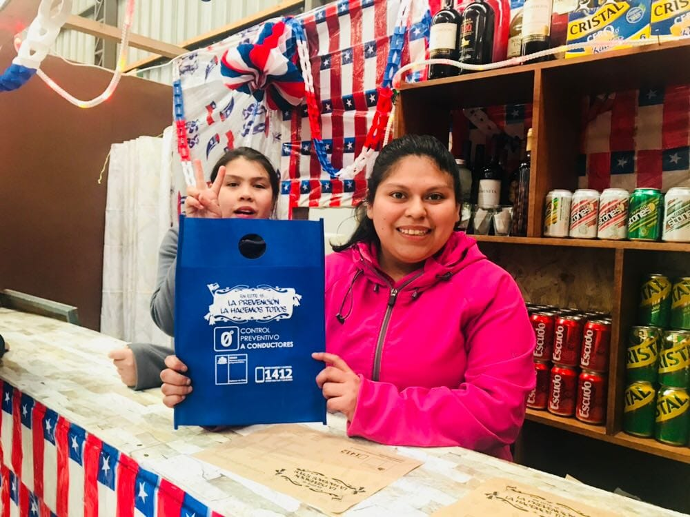 Municipio a través de SENDA Previene Aysén realizó campañas preventivas en fiestas patrias