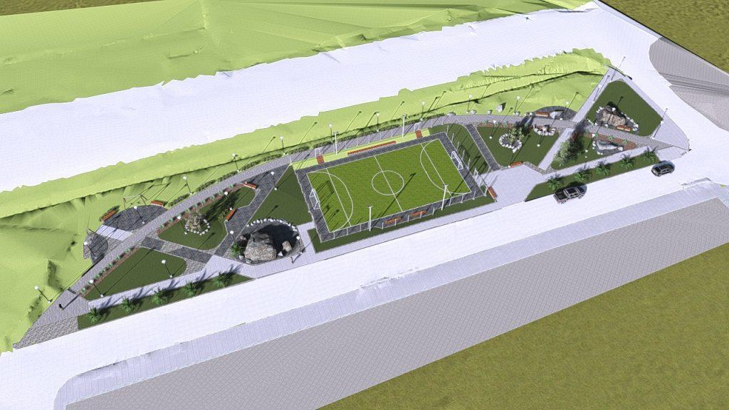Área verde en Ribera Sur será revitalizada con construcción de cancha de fútbol sintética