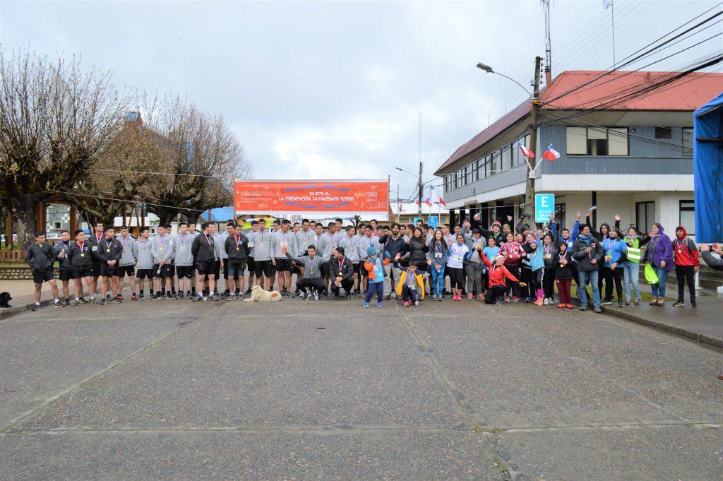 Más de 80 participantes dieron vida a la 5° Corrida Familiar de Senda Previene en la comuna de Aysén