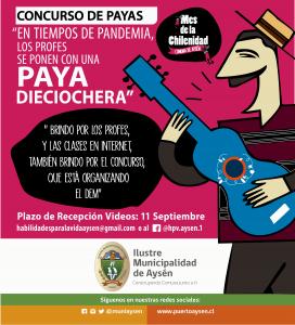 Educación Municipal de Aysén invita a profesores a participar de concurso de payas dieciocheras
