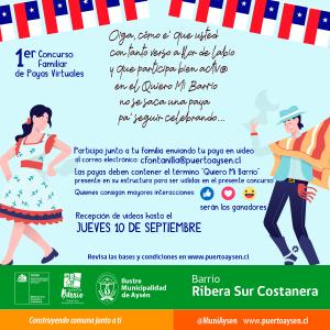 Programa Quiero Mi Barrio invita a la comunidad a participar del Primer Festival de Payas Virtuales
