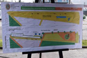 Con entrega de terreno en Puerto Aysén se dio el vamos a proyecto Mejoramiento de Plaza Mahuén