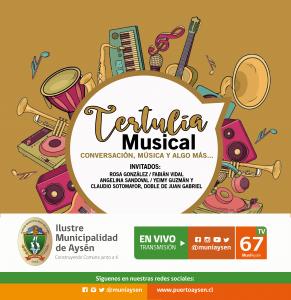"""Municipio aysenino lanza invitación para ser parte de """"Tertulia musical"""""""
