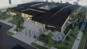 Presentan diseño de reposición de escuela Despertar a comunidad estudiantil en Puerto Aysén
