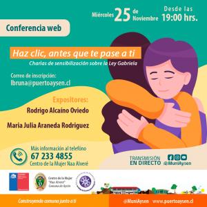 Invitan a participar este miércoles 25 en conferencia virtual para abordar violencia en el pololeo