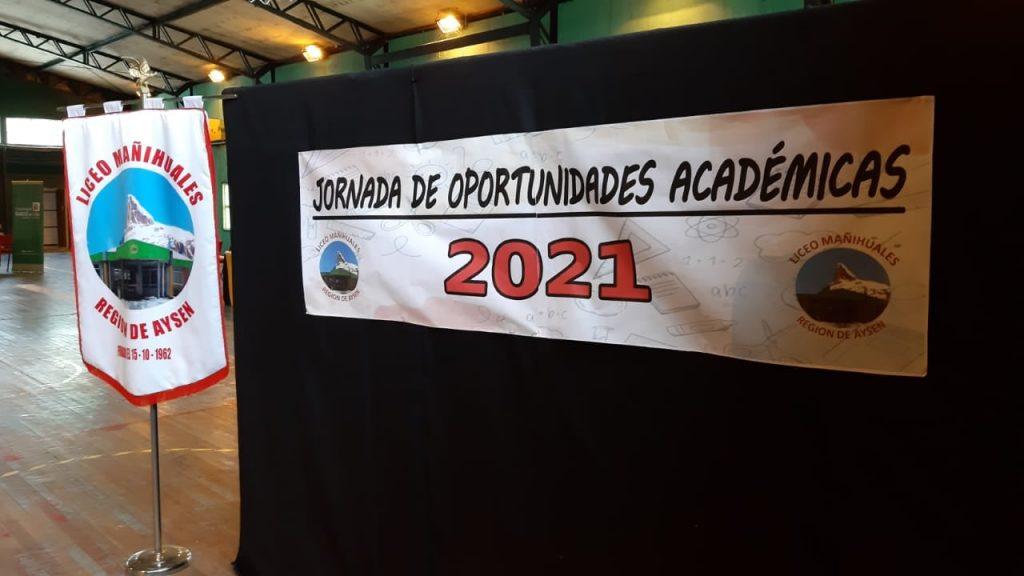 """Exitosamente se llevó a cabo la tercera versión de la """"Jornada de Oportunidades Académicas"""" de liceo Mañihuales"""